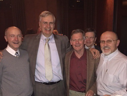 From left: Dr. Ed Schiavoni, Dr. Alphonse Baluta Dr. Theodore Brooks, Dr. Joe Cuniff, Dr. Richard Lafleur