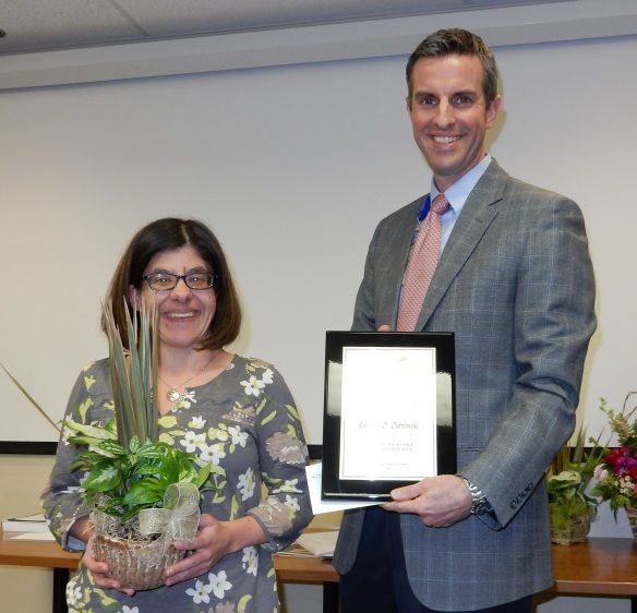 2015 Frist Award (Volunteer) Winner Jennifer Dabrowski (left) with Chris Accashian, CEO